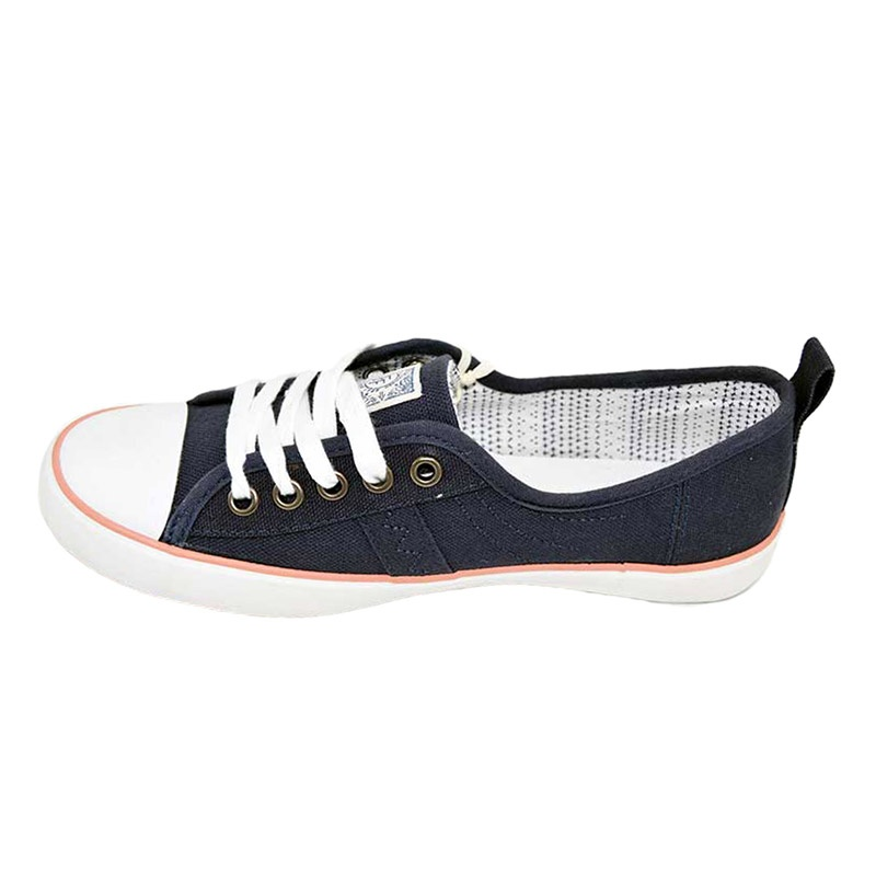 Vulcanized low cut lace up women canvas shoes