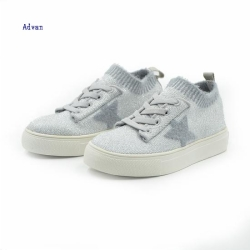 Lace up flyknit kids shoes
