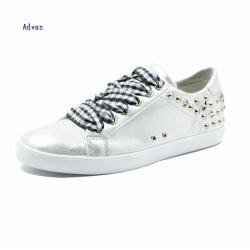 Fashion women sneakers with Rivets in Silver color